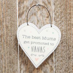 Promoted To Nana Mini Heart Plaque