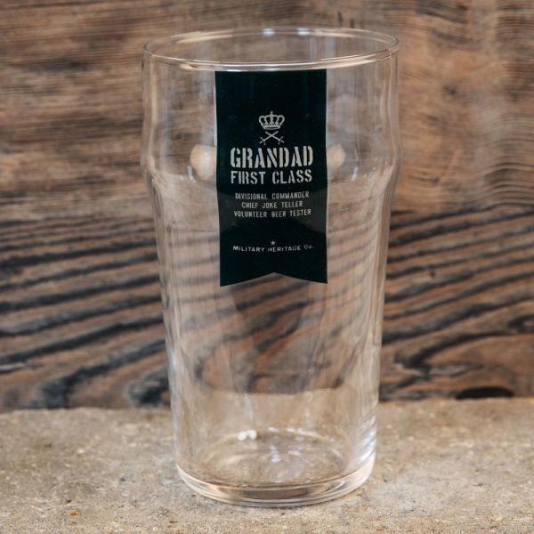 First Class Grandad Military Heritage Beer Glass