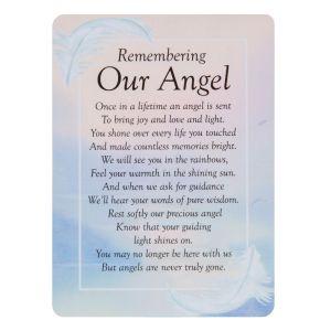 Our Angel Graveside Memorial Card