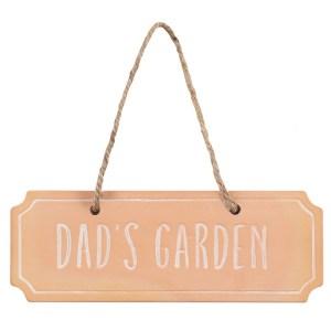 Dads Garden Terracotta Hanging Sign