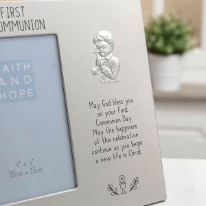 Faith & Hope Boys 1st Communion Photo Frame