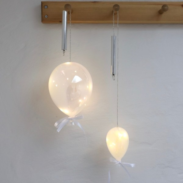 Large Hanging Pearlescent Balloon LED Night Light