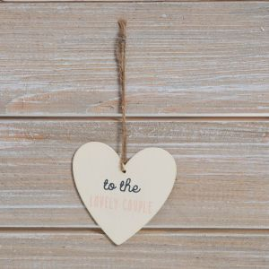 Wedding Day Greeting Card with Heart Plaque