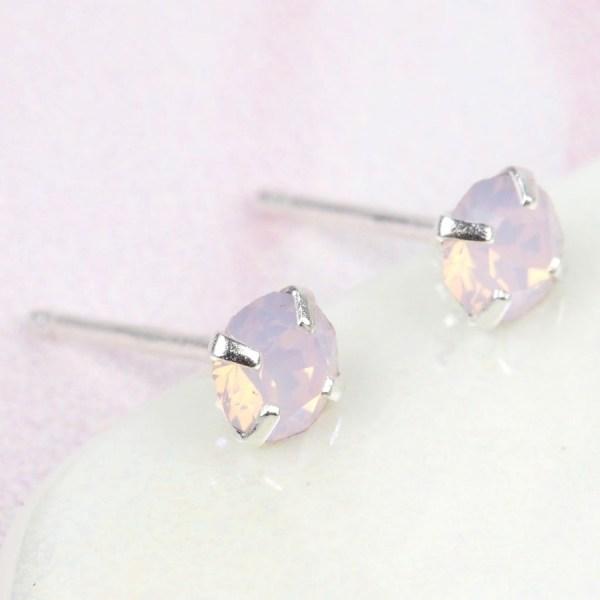 Rose Water Swarovski Crystal Stud Earrings