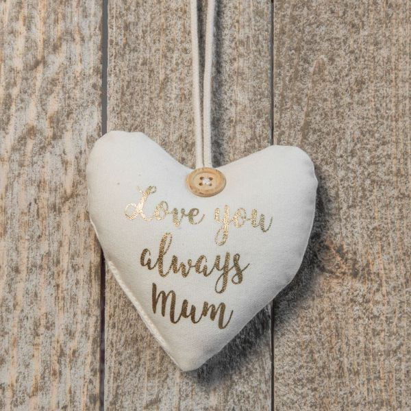 Love You Always Mum Boxed Heart Hanging Ornament