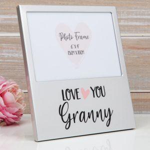 Love You Granny Aluminium Photo Frame