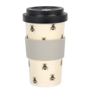 Bee Print Bamboo Eco Travel Mug