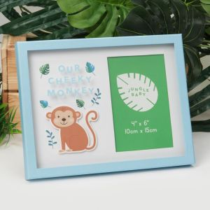 Jungle Baby Our Cheeky Monkey Photo Frame