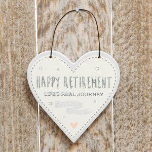 Happy Retirement Heart Plaque