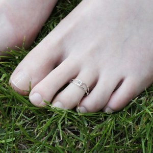 Sterling Silver Diamonte Toe Ring