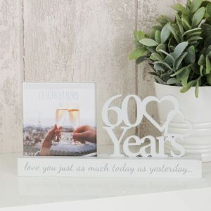 60 Years Anniversary Cut Out Photo Frame