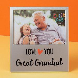 Love You Great Grandad Aluminium Photo Frame