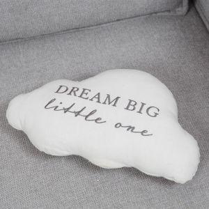 Dream Big Little One White Cloud Cushion