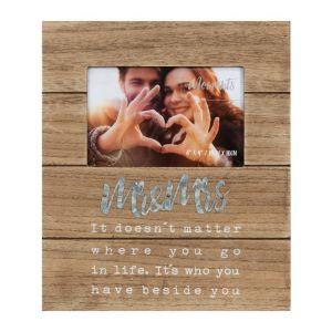 Mr & Mrs Wooden Wedding Photo Frame