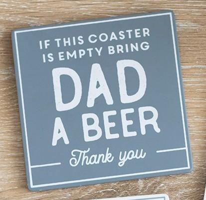 Bring Dad A Beer Coaster