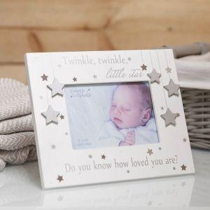 Twinkle Twinkle Silver Star Baby Photo Frame