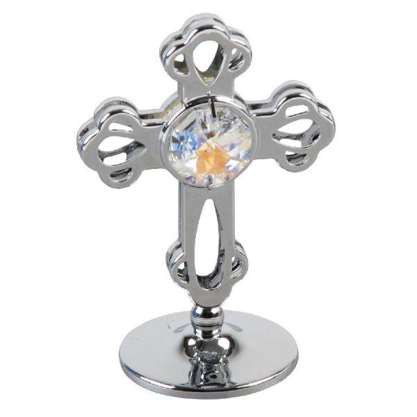 Swarovski Crystal Chrome Plated Cross
