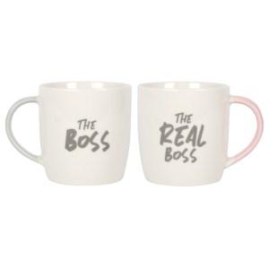 The Boss The Real Boss Mug Set