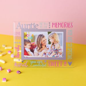 Cheerful Auntie Glass Photo Frame