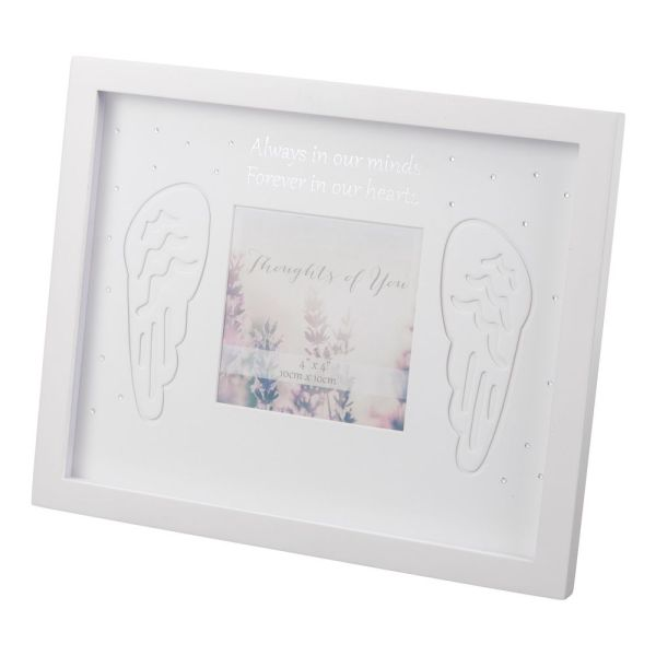 In Our Hearts Wings Memorial Photo Frame