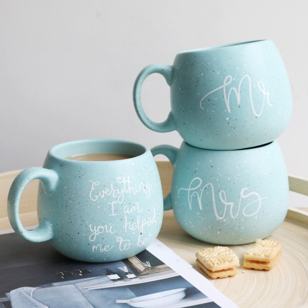 Mr Blue Speckle Mug