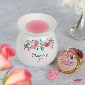 Blooming Lovely Wax Melt Burner Gift Set