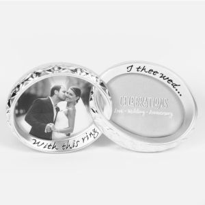 Silverplated Double Wedding Ring Photo Frame