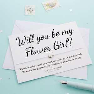 Will You Be My Flower Girl Wish Bracelet Card