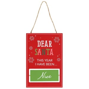Reversible Naughty or Nice Sign