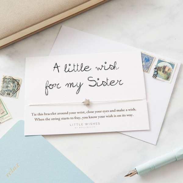 Sister Wish Bracelet Card