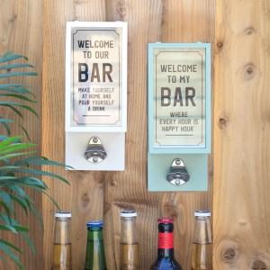 Grey Garden Bar Bottle Opener Plaque