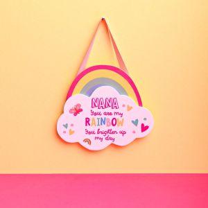Nana Rainbow Hanging Plaque