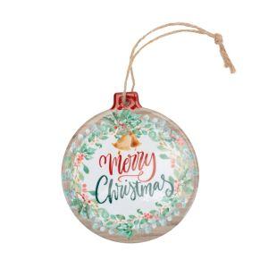 Merry Christmas Ceramic Plaque Decoration
