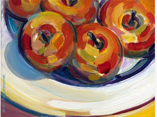Still Life Paintings Gallery  Fruit by artist Ruby Newman