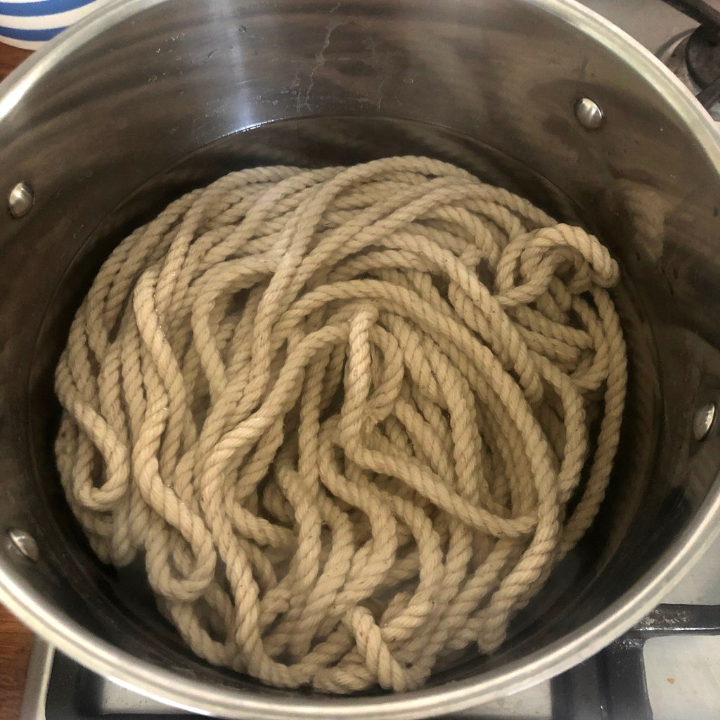 preparing cord for natural dye