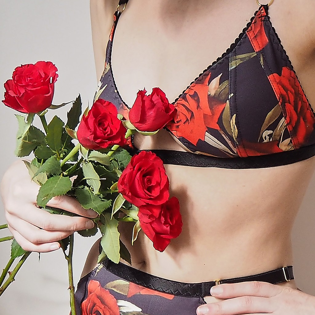Lingerie and roses
