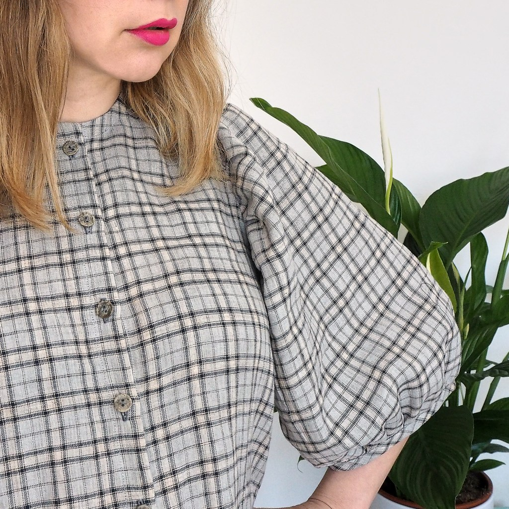 Close up of Anna Allen Anthea Blouse