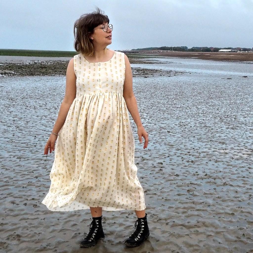 Ruby Rose on a windy beach