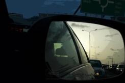 side mirror traffic
