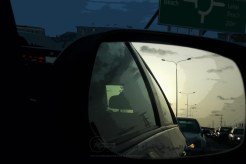side mirror traffic