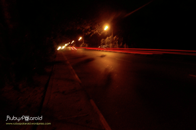 The Trail lights on University road, Lagos by rubys polaroid
