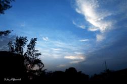 sunset sky by rubys polaroid