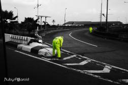 Street Cleaners on Third Mainland Bridge by rubys polaroid