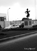 Dancing Sculpture at Toll Gate Lagos 2 by rubys polaroid