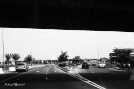 Divergent lanes monochrome by rubys polaroid