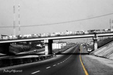 Highway in Ibadan Monochrome by rubys polaroid