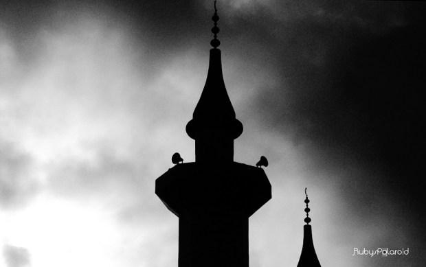 Minaret silhouette 2 by rubys polaroid