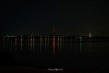 Lagos lagoon at night by rubys polaroid