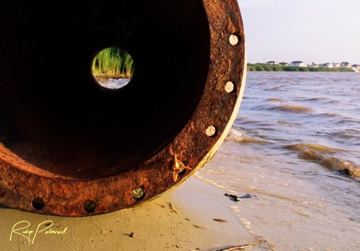Rusted Tunnel by the sea