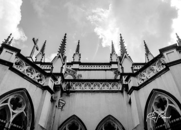 Skyward Spires of Holy Cross Cathedral Lagos by rubys polaroid